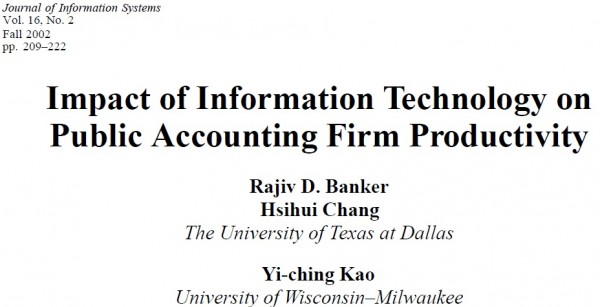 effects of technology on accounting The impact of information technology in accounting system (a case study of unilever nigeria plc (269528.